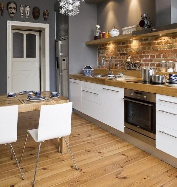 Trendy w kuchni – styl industrialny -> Kuchnia Biale Cegly
